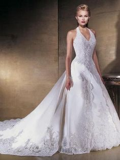 463 best Halter Wedding Dresses images on Pinterest | Bridal gowns ...