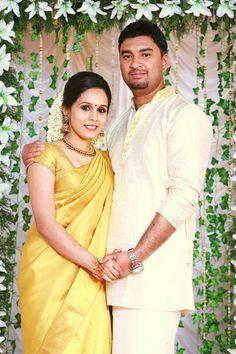 Traditional kerala bride and groom