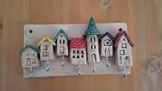 Ceramic Houses, Clay Art, Creative, Etsy, Advent Calendar, Triangle, Ceramics, Holiday Decor, Handmade