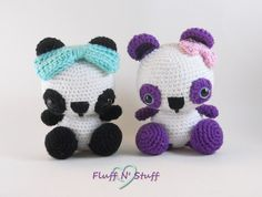 Cute Amigurumi Crochet Panda Bear  Kawaii by FluffNStuffCreations