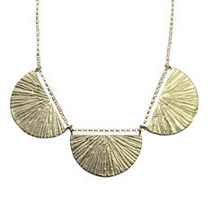 SUNRISE TRIO NECKLACE IN BRASS // RITES COLLECTION // by Amanda Hunt