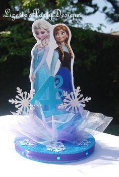 12 pulgadas congelado tema Ana y Elsa por LizettesPartyDesigns