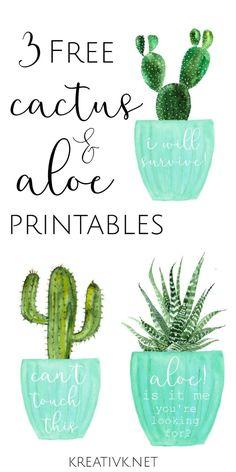 3 free cactus & aloe printables kreativk.net