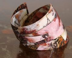 Patterned paper Cuff Bracelet by all things paper