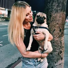 You guyssssss I finally got to meet @itsdougthepug last night and we fell in love and I think he's my new boyfriend now. ✨