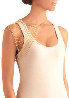 Chain of Pace Shoulder Necklace | Mod Retro Vintage Necklaces | ModCloth.com - Bridesmaids gift