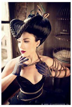 Model Yolinda Vixen Photo Eva Krebbers Makeup Me Using Ellis Faas Cosmetics  Hair Madame De Pompadour
