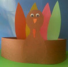 Crafts For Preschoolers: Turkey Headband Fall Preschool, Preschool Projects, Thanksgiving Crafts For Kids, Autumn Crafts, Thanksgiving Activities, Preschool Activities, Holiday Crafts, Holiday Fun, Kids Crafts