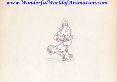 Disney Studios production drawing Animation Art production drawing of Little Hiawatha From Disney Studios