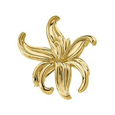 14K Yellow Gold Flower Brooch Gems-is-Me. $1218.56. FREE PRIORITY SHIPPING. This item will be gift wrapped in a beautiful gift bag. In addition, a 'gift message' can be added.. Save 40%!