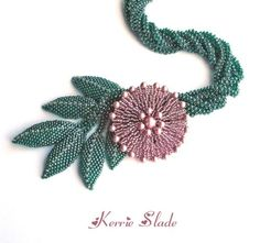 English Rose Necklace Tutorial