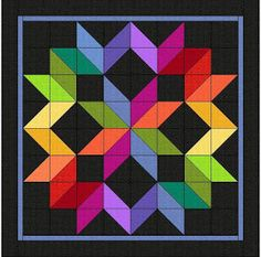 of illusion Quilts of illusion - Karen Combs fabric line 'Crystal Fusion', comes in 26 colors.Quilts of illusion - Karen Combs fabric line 'Crystal Fusion', comes in 26 colors. Barn Quilt Designs, Barn Quilt Patterns, Quilting Designs, Quilting Projects, Shirt Patterns, Clothes Patterns, Pattern Blocks, Quilting Ideas, Dress Patterns
