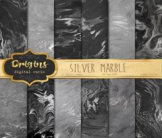 Silver Marble Digital Paper by Origins Digital Curio on @creativemarket