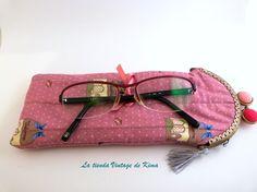 Funda+para+gafas+con+boquilla+-Welcome-+de+La+Tienda+Vintage+de+Kima+por+DaWanda.com