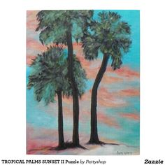 TROPICAL PALMS SUNSET II Puzzle