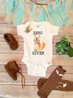 Funny Onesie®, Fox Onesie, Funny Baby Shower Gift, Hipster Baby, Boho Baby Clothes, Unisex Baby Gift, Funny Baby Bodysuit, Fox Baby Clothes