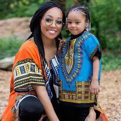 Monica Brown and daughter | Dashiki Fashion