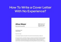 How To Write a Cover Letter With No Experience in 9 Steps – Resumeway Perfect Cover Letter, Best Cover Letter, Cover Letter Design, Writing A Cover Letter, Cover Letter Example, Letter Templates, Resume Templates, Effective Cover Letter, Professional Cover Letter Template