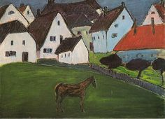 Marianne von Werefkin (1860-1938) was een Russisch expressionistische schilder. Vanaf 1907 ontstonden haar eerste expressionistische werken, waarbij zij de stijl van Paul Gauguin en Louis Anquetin volgde, maar haar onderwerpen ontleende zij vaak aan Edvard Munch. In 1912 sloot Werefkin met Jawlensky zich bij de Blaue Reiter aan, de kunstenaarsgroep die een jaar eerder door Wassily Kandinsky, Franz Marc en August Macke was opgericht.