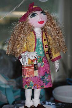 Standing Doll Handmade OOAK Art Doll Jeweled by SherisShoppe, $185.00