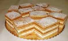 """Prajitura """"Albinita"""" cu foi fragede! Tot ce-ti trebuie pentru masa de Paste! Romanian Food, Vanilla Cake, Gem, Food And Drink, Sweets, Bread, Cooking, Desserts, Foodies"""
