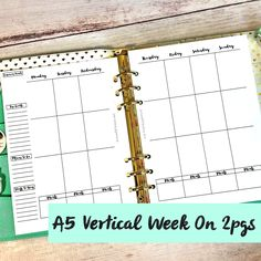 Hello planner lovelies. I created an A5 2-page vertical insert for myself. I thought I'd try it out this week, see if it's a good fit for me in my personal home planner. Of course, you …