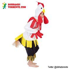 Disfraz de gallo para niños/niñas. Los disfraces de animales más locos y a buen precio.