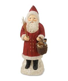 """Red - 9"" ""Belsnickel with Basket"" Christmas Figure by Bethany Lowe Designs in Collectibles, Holiday & Seasonal, Christmas: Current (1991-Now) 