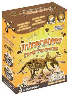 Science4you - Excavaciones fósiles - Triceratops - juguete científico y educativo: Amazon.es: Juguetes y juegos