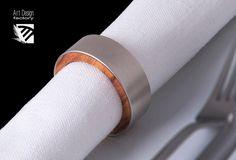 RING 2.0 portatovagliolo  in ulivo e acciaio di ADFactoryStore