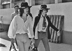 Mick Jagger and Keith Richards in Brazil, 1968
