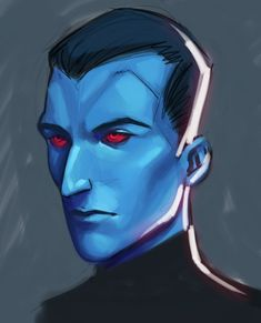 So hey thank you to those who recommended Autodesk Sketchbook to me, I ended up sketchng a Thrawn on my netbook and I'm surprised how much it feels and LOOKS like photoshop after a while assuming you. Grand Admiral Thrawn, Original Trilogy, Clone Wars, Far Away, Oc, Weird, Fanart, Star Wars, Photoshop