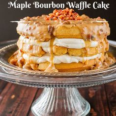 Make This Bourbon Waffle Cake With Candied Bacon Because You're A Breakfast Hero - http://www.77evenbusiness.com/make-this-bourbon-waffle-cake-with-candied-bacon-because-youre-a-breakfast-hero/