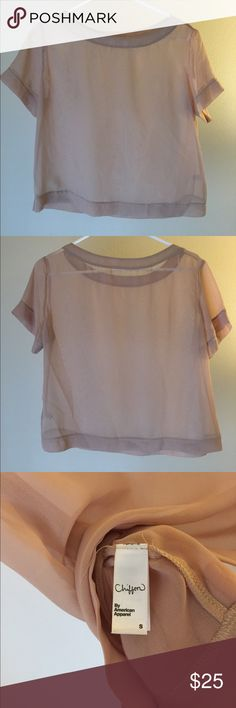 Nude chiffon tee Simple, square tee, in a lux-feeling, chiffon fabric. Lovely for layering, beach days or over a chemise. American Apparel Tops Tees - Short Sleeve