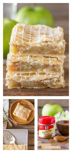 Iced Apple Pie Bars from @luvlylilkitchen look like the perfect slab pie for a large Thanksgiving gathering. A great way to use the season's apple bounty!