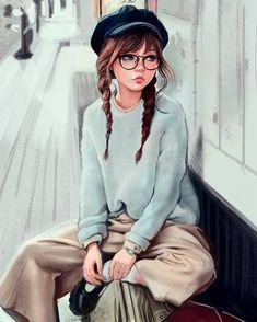 Girl Wallpaper - My Walpaper Girl Cartoon Characters, Cartoon Girl Images, Cute Cartoon Girl, Cool Anime Girl, Anime Art Girl, Beautiful Girl Drawing, Cute Girl Drawing, Cartoon Girl Drawing, Drawing Art