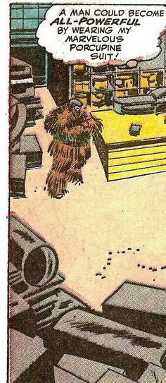 There's Tom Riddle again. After the banana batch, he tried a Marvelous Porcupine suit. Vintage Comic Books, Vintage Humor, Vintage Comics, Comic Books Art, Comic Art, Old Comics, Funny Comics, Comic Book Panels, Ligne Claire