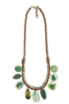 Cairn Necklace  by BLANK  stunning green mine stone necklace