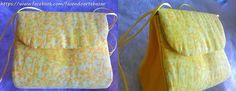 Bolsinha Eco....Com alça a tira colo, feita com caixas de leite reaproveitadas e revestida com tecidos de algodão.