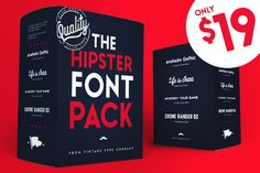 Hipster Font Pack 2016 by @Graphicsauthor