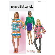 Misses' Top, Tunic and Dress-8-10-12-14-16 Pattern B5815