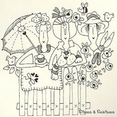 Pattern by by Red Brolly Hand Embroidery Patterns, Applique Patterns, Embroidery Applique, Cross Stitch Embroidery, Machine Embroidery, Stitch Patterns, Red Brolly, Broderie Primitive, Cross Stitching