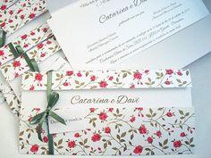 18 Convites  Inéditos de casamento floral! continue vendo...