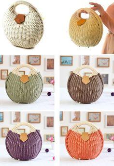 AliExpress GroupBuy Женская пляжная плетёная сумка