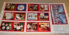 Wonderful ELF ON A SHELF FABRIC BOOK PANEL!