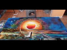 how to spray paint aurora, magic castle,jungle, waterfall, chinese landscape and more june 2016 prev - YouTube