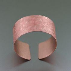 New New! Copper Linen Cuff Presented by #HandmadeAtAmazon #Cuffs http://www.amazon.com/dp/B00T22H4TM