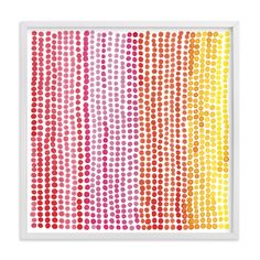 """""""Rainbow Dots - Limited Edition Art Print by Paper Dahlia in beautiful frame options and a variety of sizes. Art Wall Kids, Home Wall Art, Art For Kids, Monkey Room, Paper Dahlia, Orange Red, Yellow, Bath Girls, Art Store"""