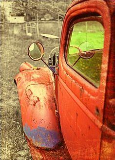 Rusted Truck orange