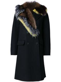 Ermanno Scervino пальто с меховым воротником